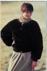 Блузкаы из меховой пряжи