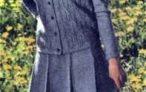 Вязаный костюм для девочки разм. 42-44
