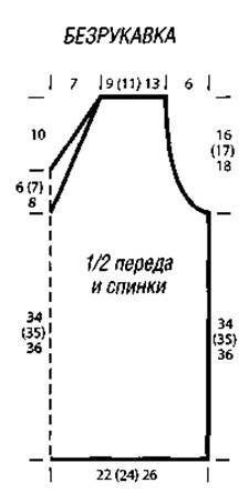 Вязаные накидка и безрукавка серого цвета размеры: 38 (42) 46