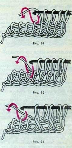 Узоры для вязания длинным крючком