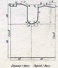 Блузка (разм. 46), схема вязания крючком