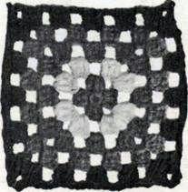 Косынка, схема вязания крючком