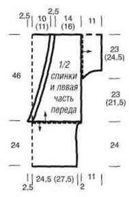 Вязаная трёхцветная безрукавка с запахом размеры: 38 42 (44 48)