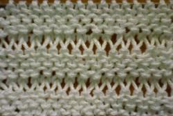Как выглядит узор с увеличенными петлями