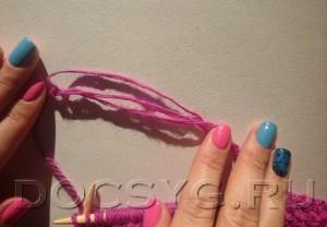 как соединить нити при вязании без узла