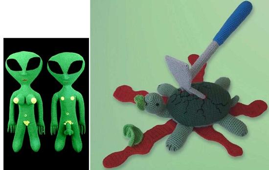 страшные вязанные игрушки