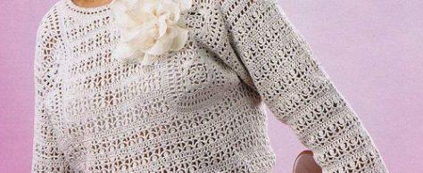 Льняной пуловер
