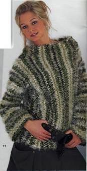 Полосатый пуловер размеры: 38/40 (46/48)