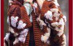 Роскошная вязанная накидка с мехом.