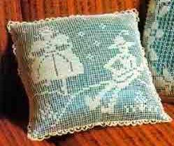 Филейное вязание, подушки_ Filejnoe vjazanie, podushki