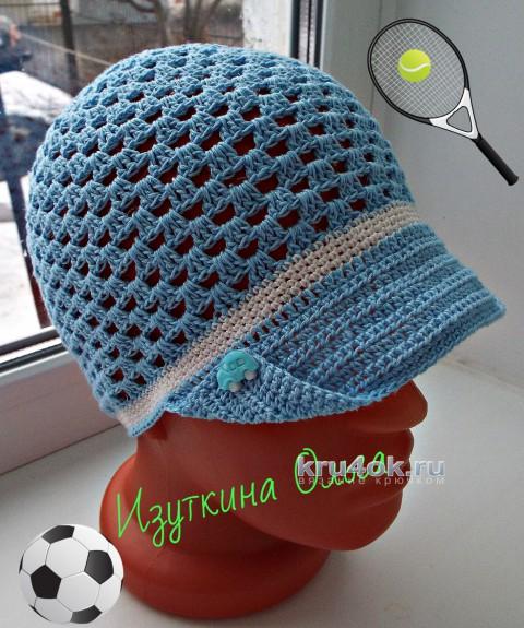 Летние шапочки для детей крючком. Работы Ольги Изуткиной вязание и схемы вязания