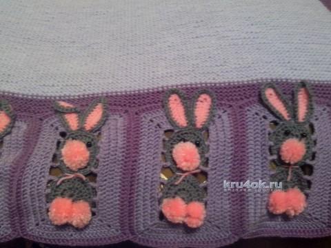 Плед с зайчиками. Работа Ивановой Светланы вязание и схемы вязания