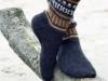Мужские носки с орнаментальными узорами