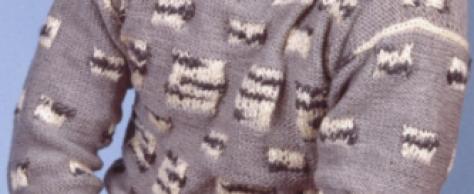 Мужской свитер с интерсией