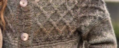 Мужской жакет, вязаный спицами
