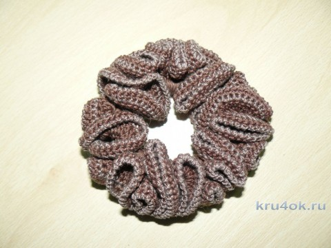 Резиночки для волос крючком. Работы Ларисы вязание и схемы вязания