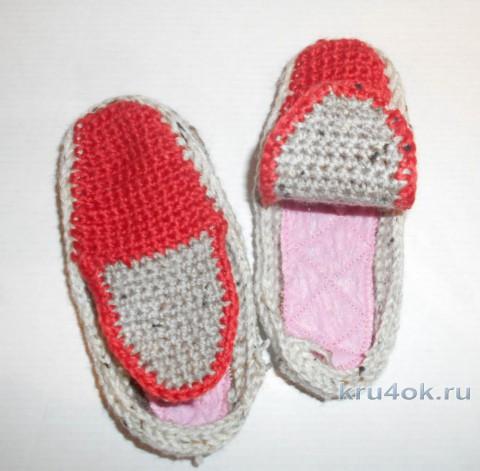 Детские кеды крючком. Работа TatVen вязание и схемы вязания