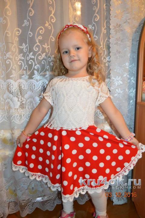 Платье для девочки. Работа Ирины Савельевой вязание и схемы вязания