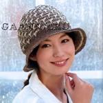 Двухцветная шляпка