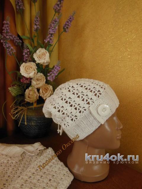 Кофточка и шапочка для девочки. Работы Ксюши Тихоненко вязание и схемы вязания