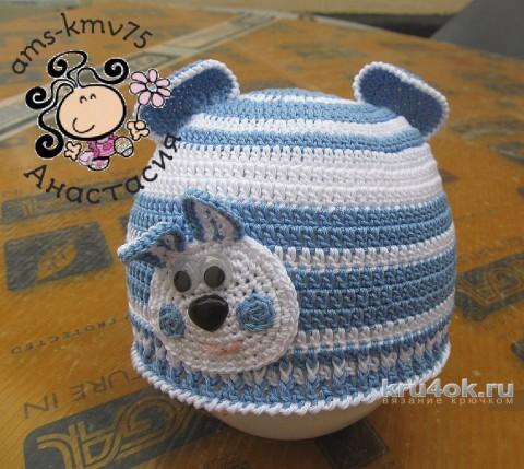 Детская шапочка Заинька. Работа Анастасии ams-kmv75 вязание и схемы вязания