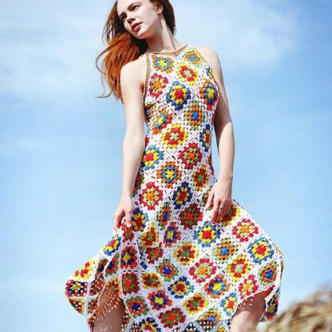 платье бабушкин квадрат