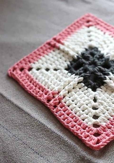 теплый бабушкин квадрат
