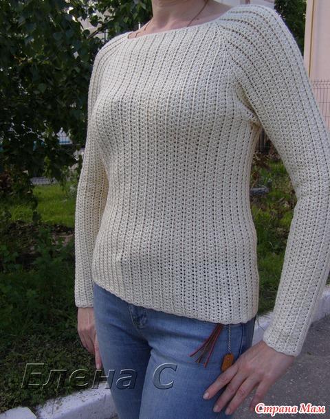 вязание пуловера для женщин