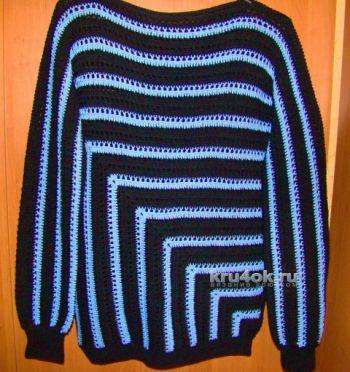 Пуловер и туника, связанные по одной схеме