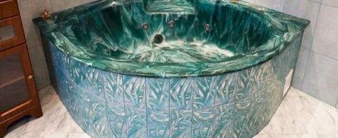 Достоинства ванн из искусственного камня
