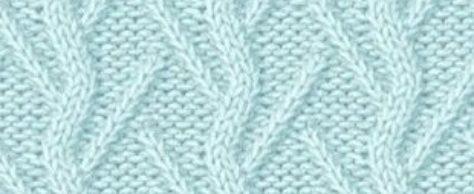 Узоры спицами «наклонные петли» со схемами