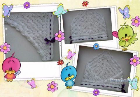 Косынка для девочки крючком. Работа Марины вязание и схемы вязания