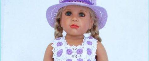 Комплект: платье Сиреневые глазки и шляпка
