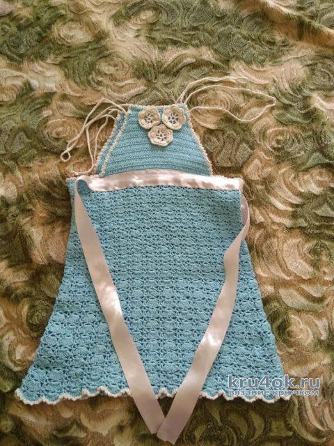 Сарафан для девочки. Работа Кристины Филиной вязание и схемы вязания