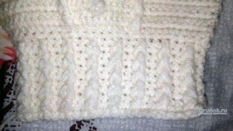 Теплый комбинезон для малыша 6-9 мес. Работа Галины вязание и схемы вязания