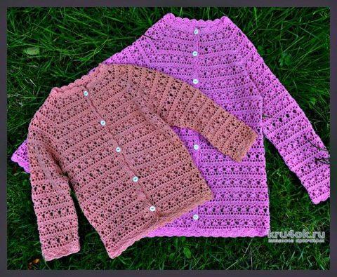 вязаные ажурные кофточки для девочек Ctstyleru сайт для женщин